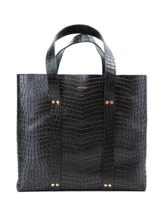 KRAFLA-Shopper-Croco-Black-1