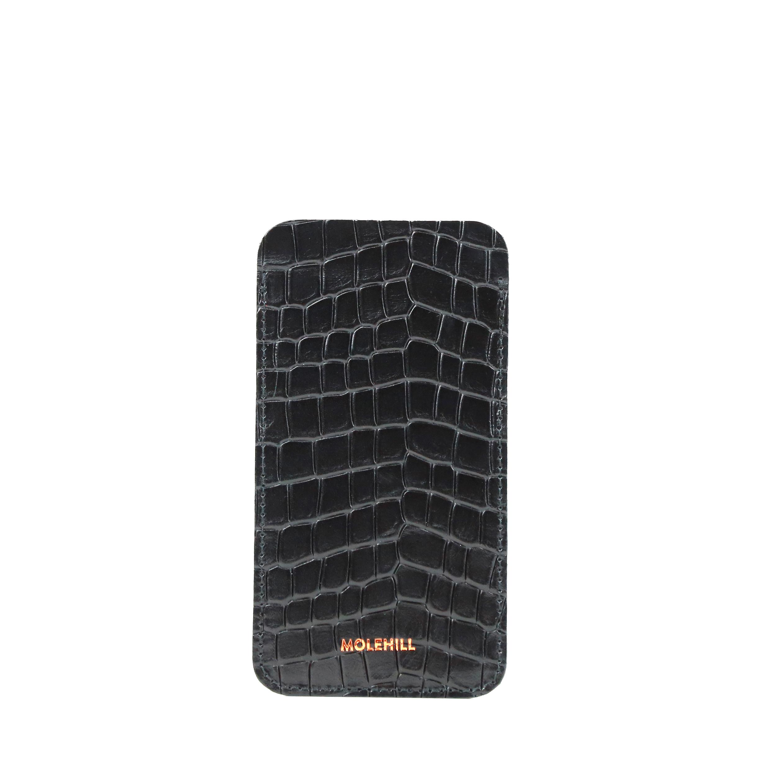 Phone Holder Croco Black-1