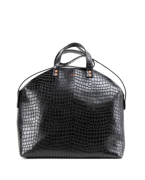 MADURA Handbag Croco Black Sample Sale No. 1-1