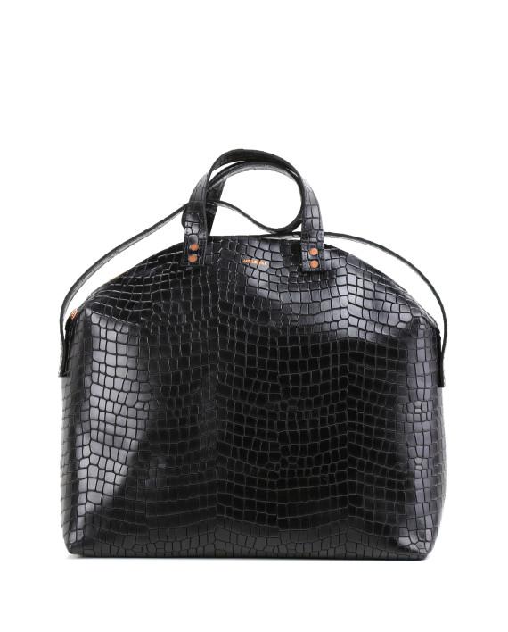 MADURA Handbag Croco Black Sample Sale No. 2-1