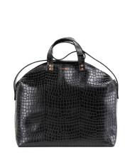 MADURA Handbag Croco Black Sample Sale No. 2-2