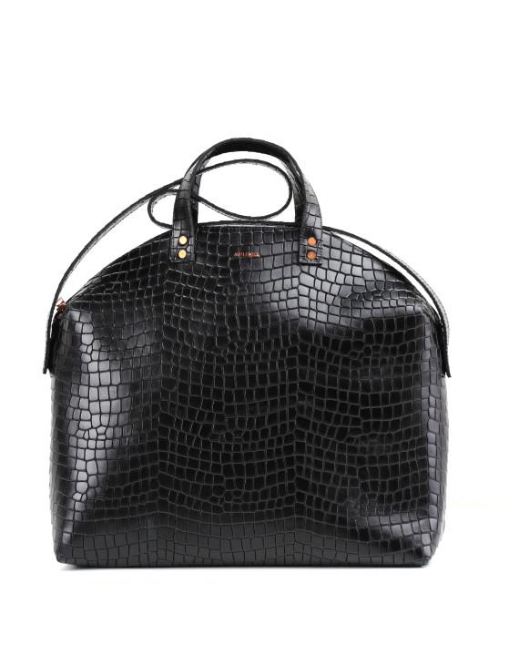 MADURA Handbag Croco Black Sample Sale No. 4-1