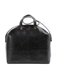 MADURA Handbag Croco Black Sample Sale No. 4-2