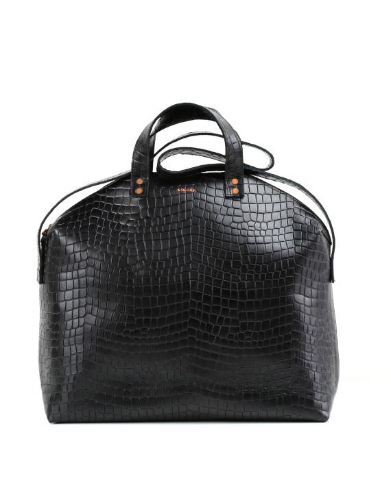 MADURA Handbag Croco Black Sample Sale No. 5-1