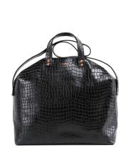 MADURA Handbag Croco Black Sample Sale No. 6-2