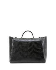 HEIDA-Medium-Top-Handle-Bag-Croco-Black-2
