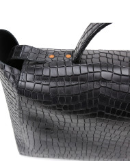 HEIDA-Medium-Top-Handle-Bag-Croco-Black-3