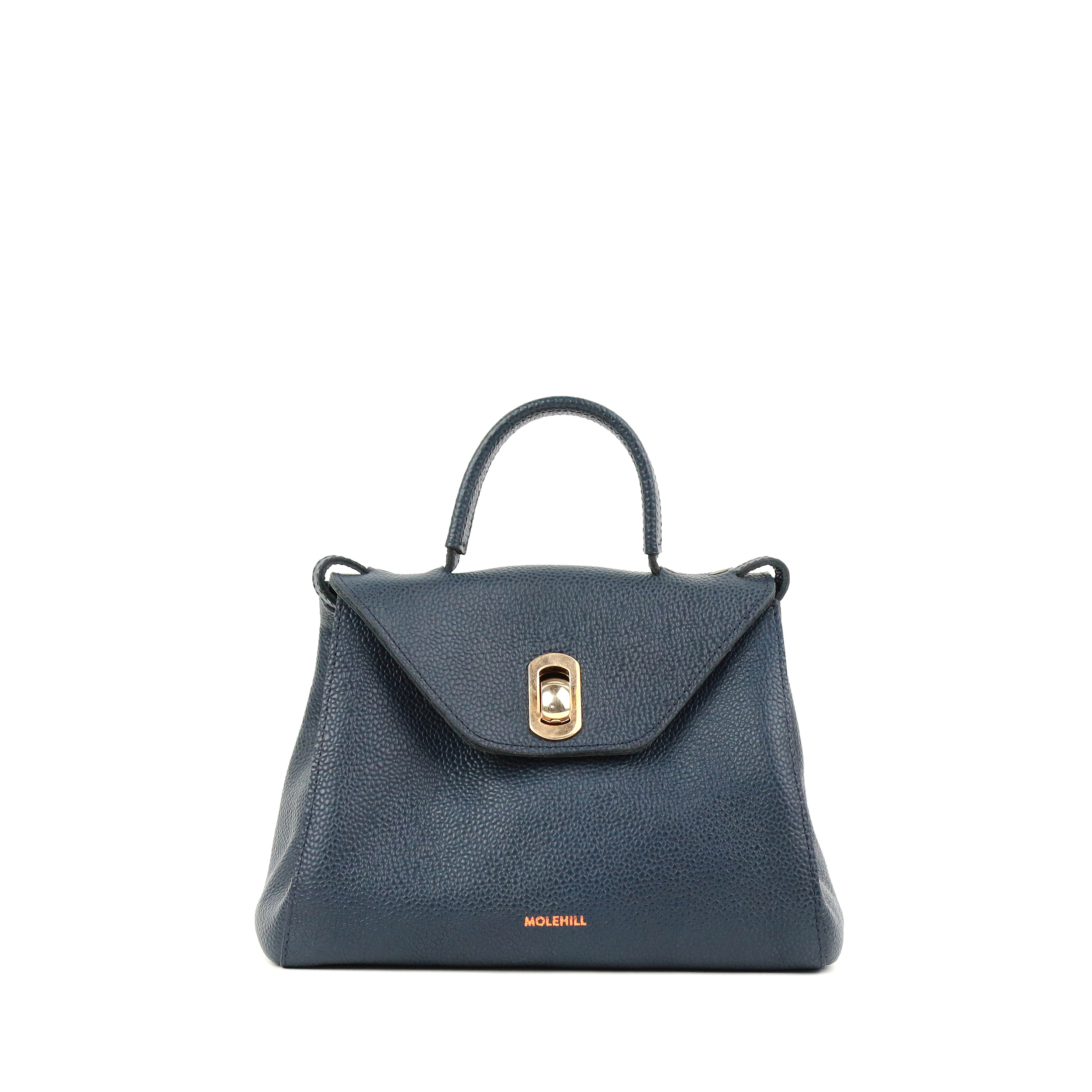 HEIDA Small Navy Grained