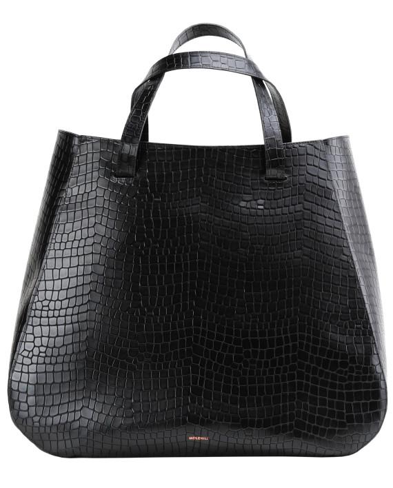 Lesa-Large-Bag-Croco-Black-1