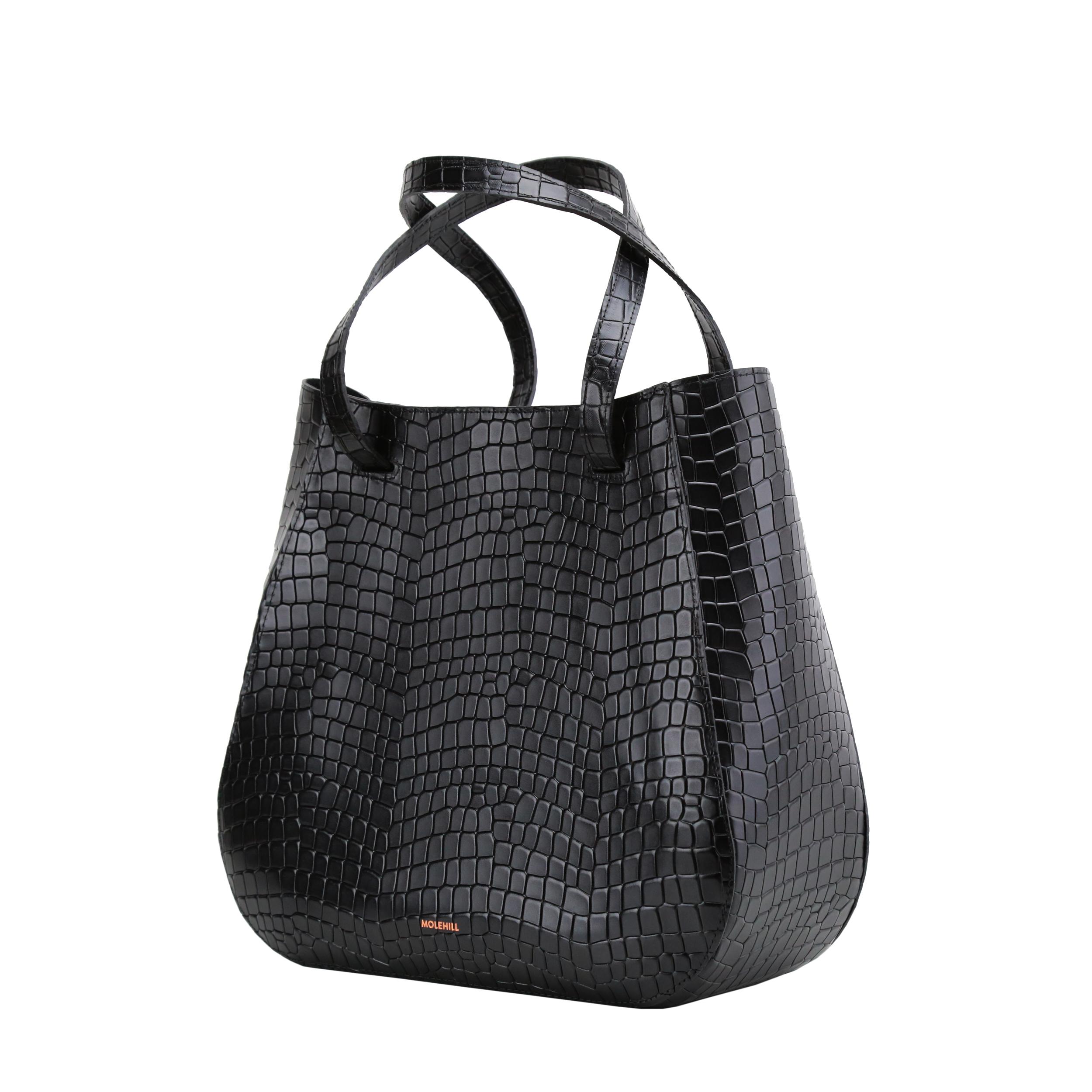 Lesa-Medium-Bag-Croco-Black-2