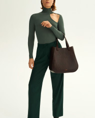 Molehill-Lookbook-Lesa-Medium-Handbag-Croco-Brown-Special-Edition