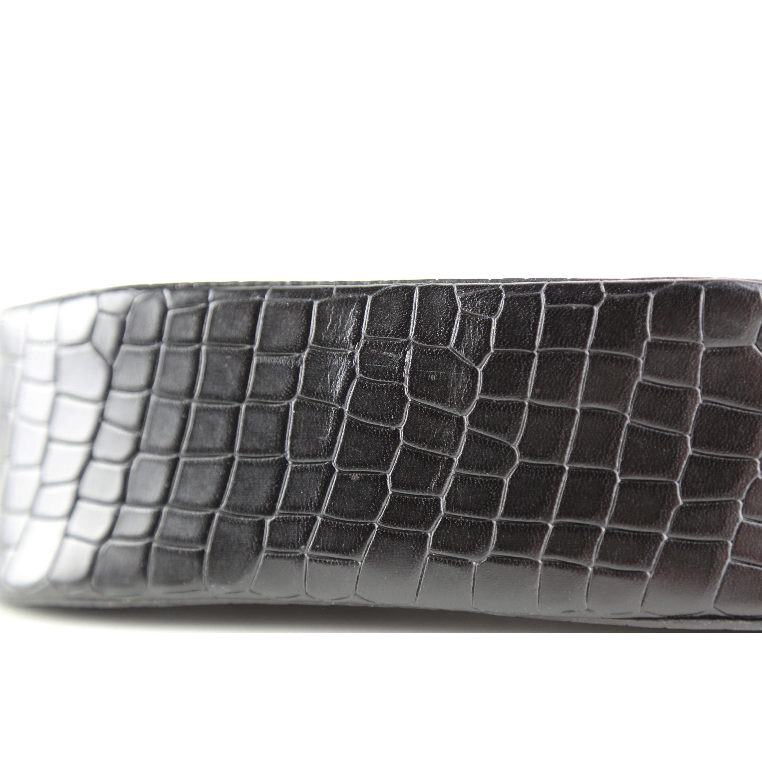 Torba-BOAT Crossbody Bag Croco Black-4