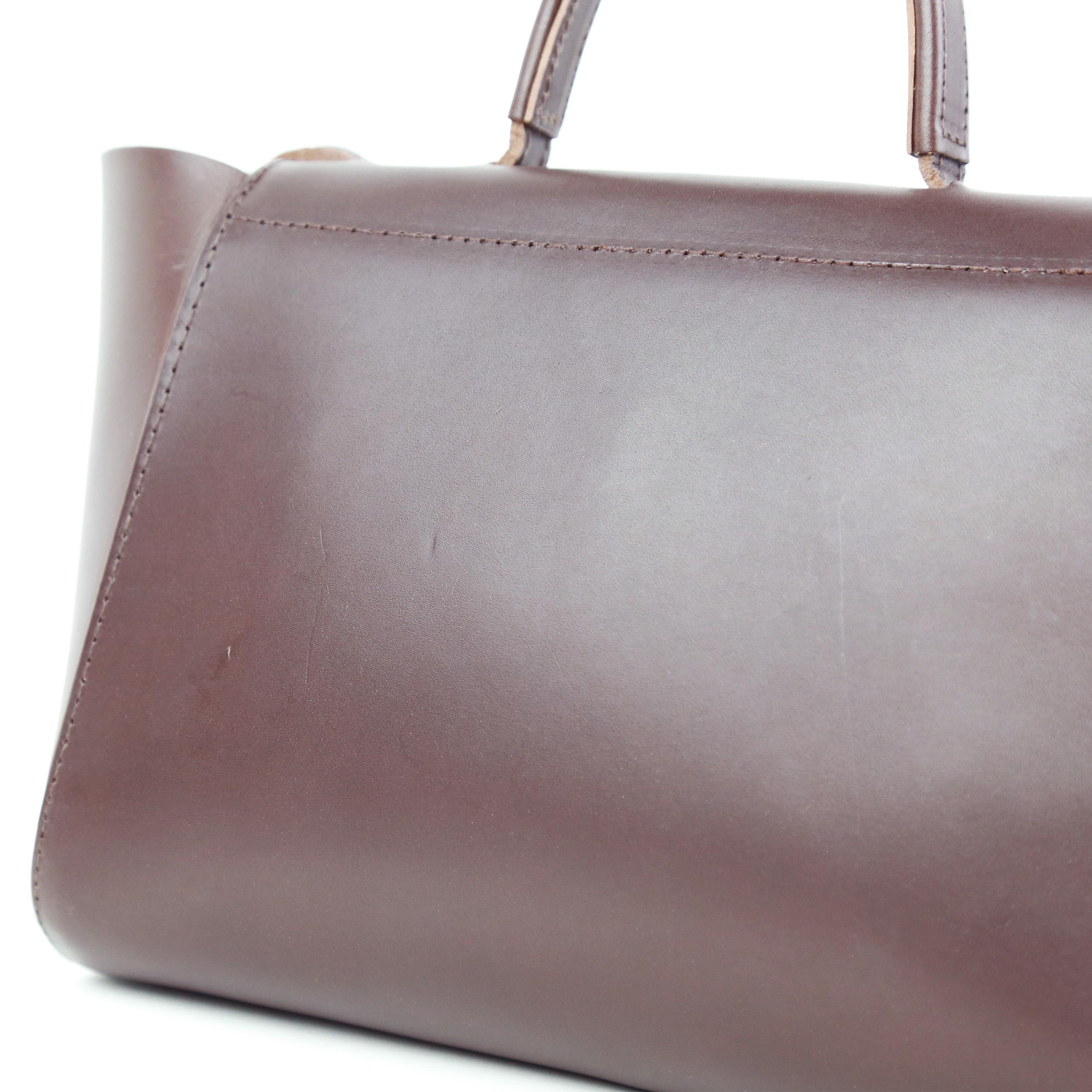 Torba-HEIDA Small Top Handle Bag Dark Brown-3