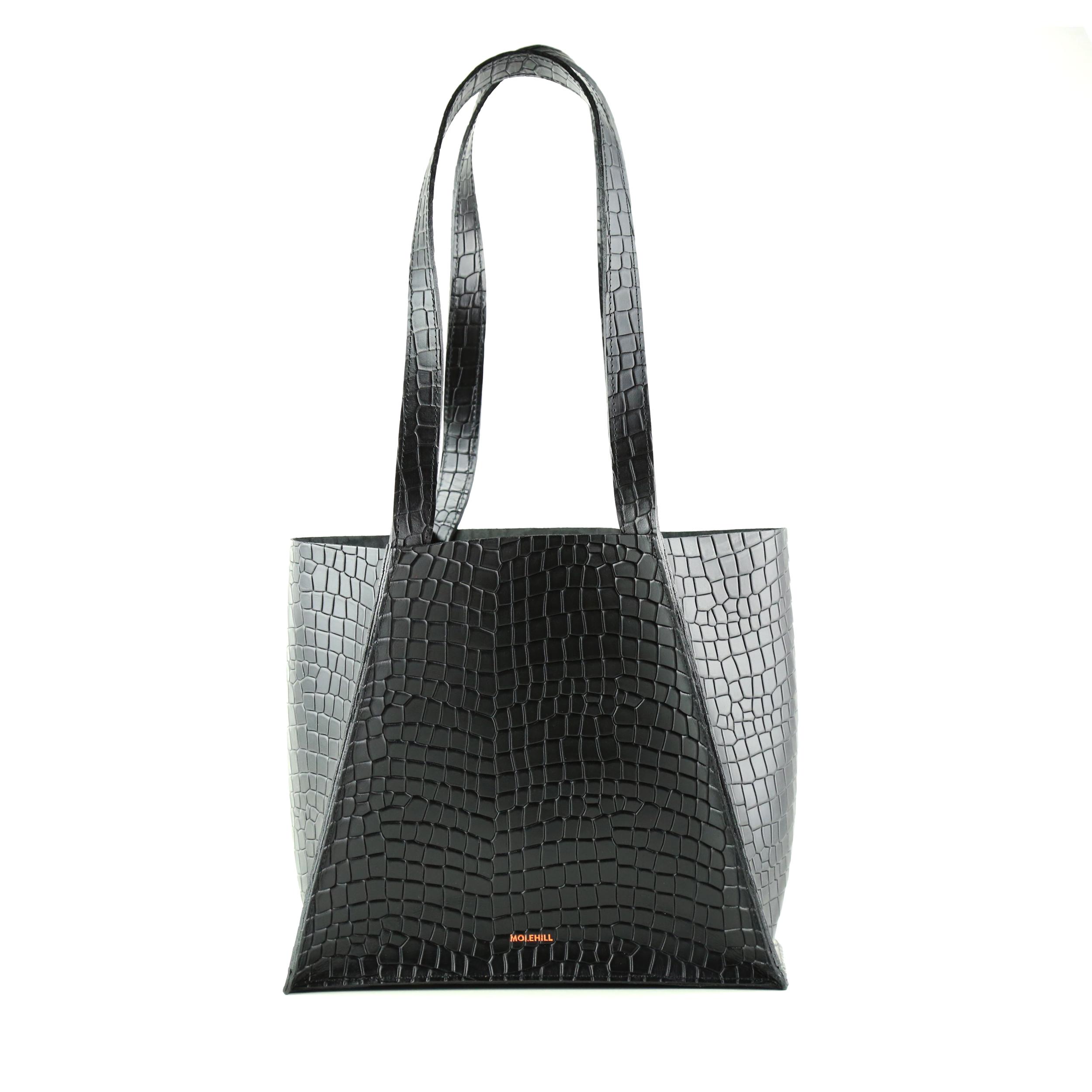 Torba-MAURA-Fold-Bag-Croco-Black-1