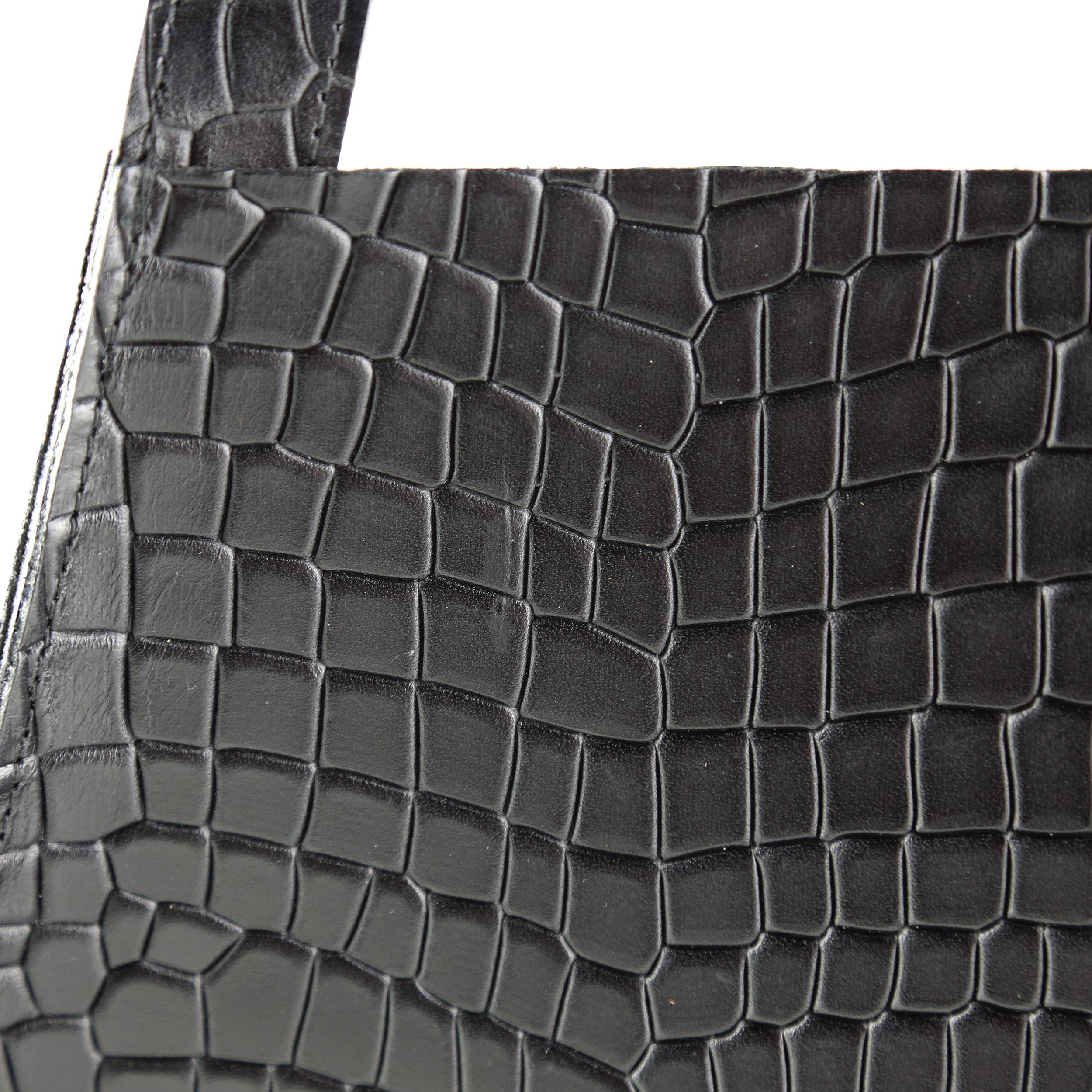 Torba-MAURA-Fold-Bag-Croco-Black-2