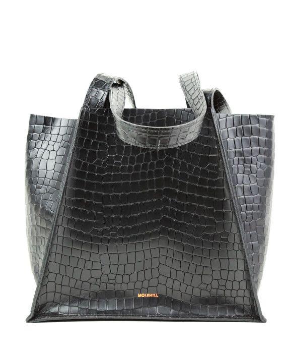 Torba-MAURA Croco Black 1