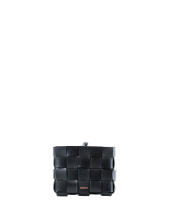 Pane Mini Crossbody Woven Bag Black-1