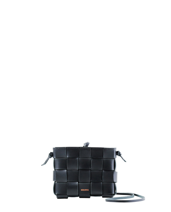 Pane Mini Crossbody Woven Bag Black-2