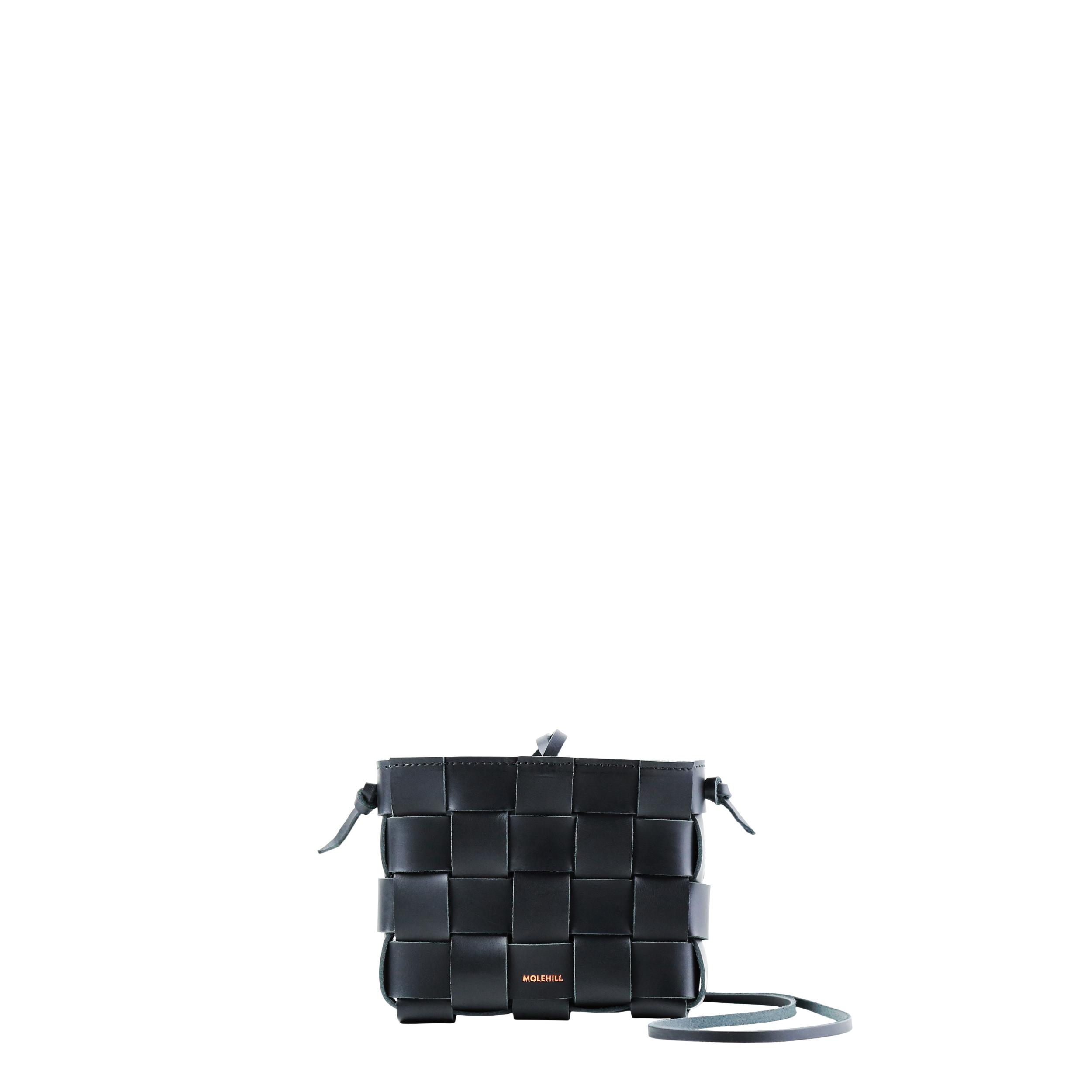 Pane Mini Crossbody Woven Bag Black-2