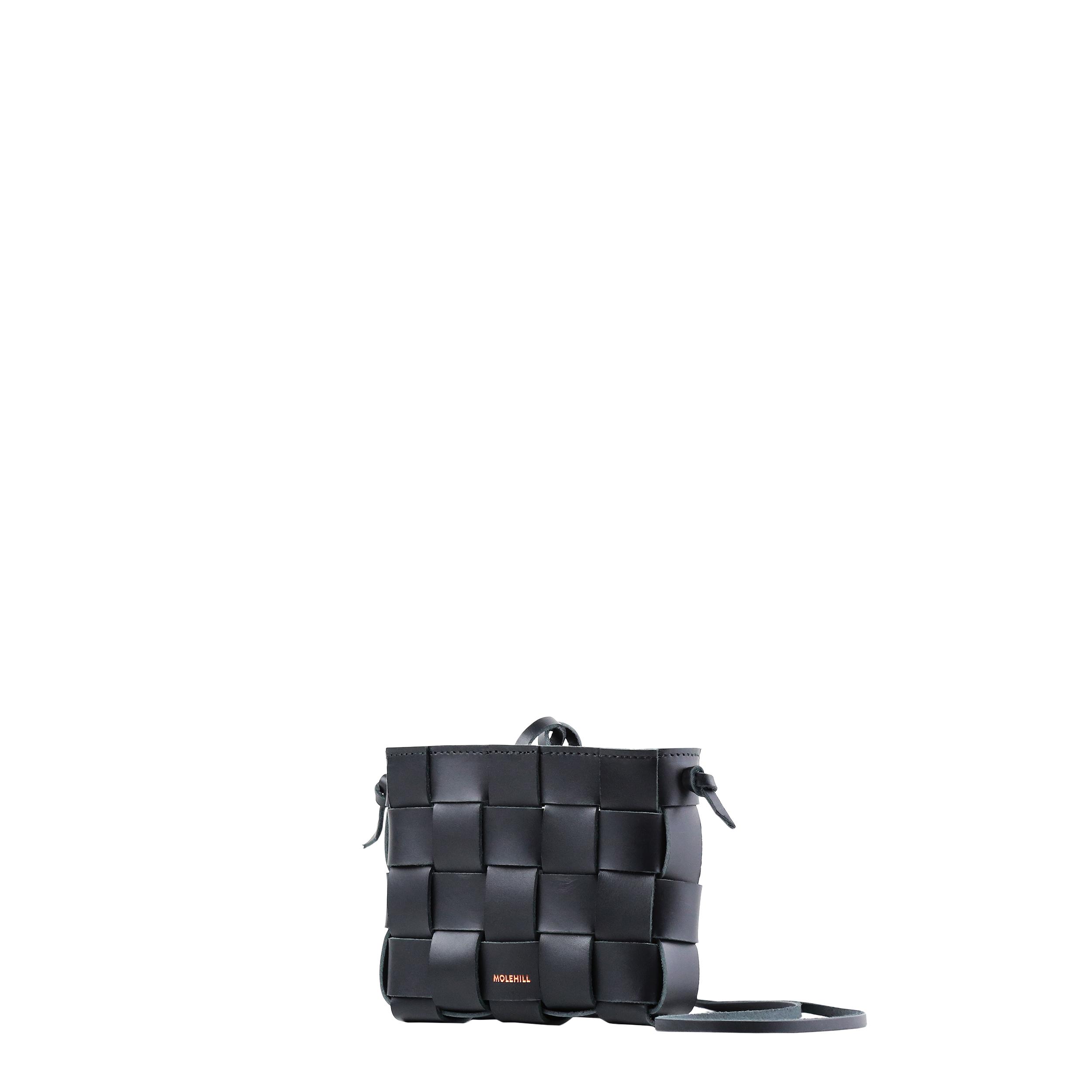 Pane Mini Crossbody Woven Bag Black-4