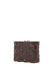 Pane Crossbodgt Woven Bag Dark Chocolate 2-1