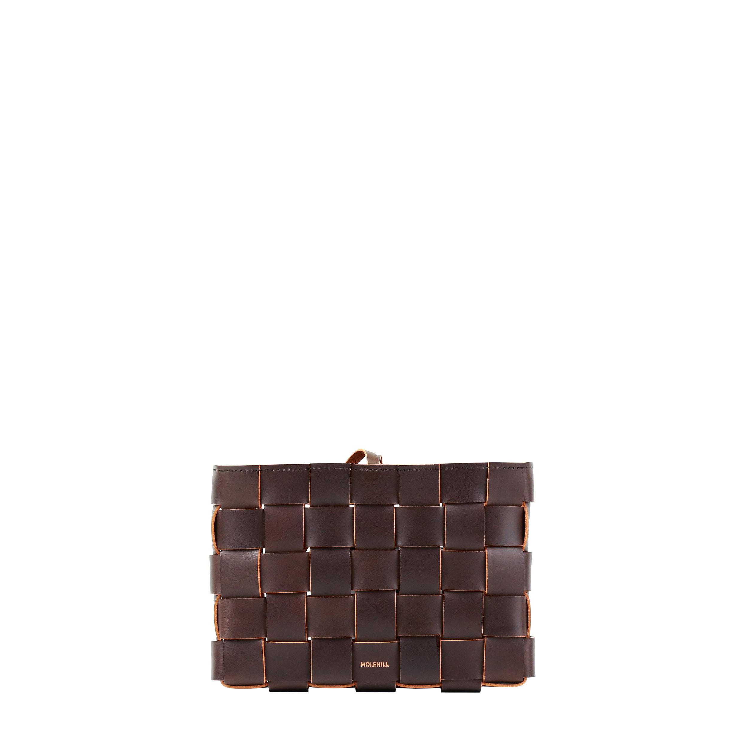 Pane Crossbodgt Woven Bag Dark Chocolate 2-2