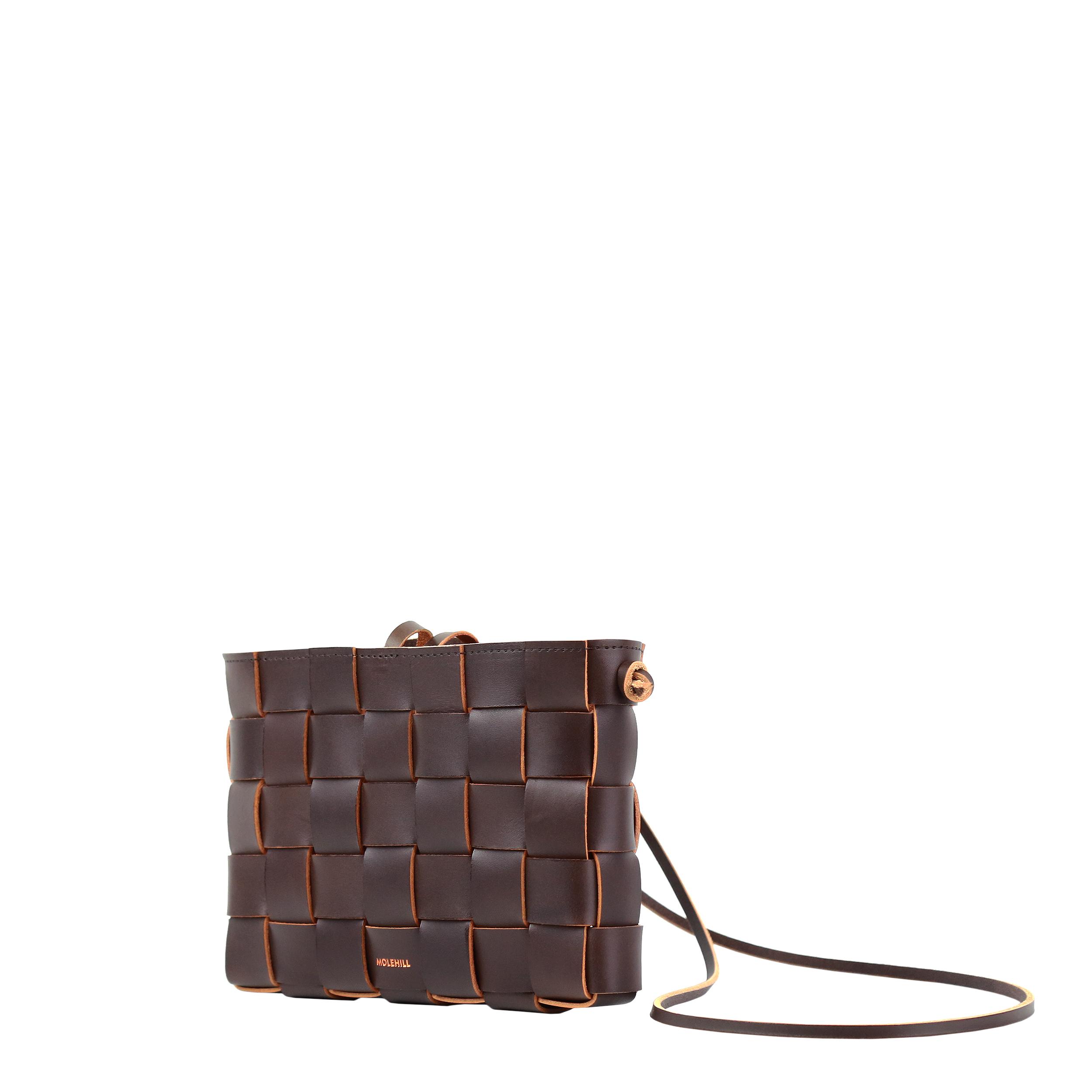 Pane Crossbodgt Woven Bag Dark Chocolate 2-4