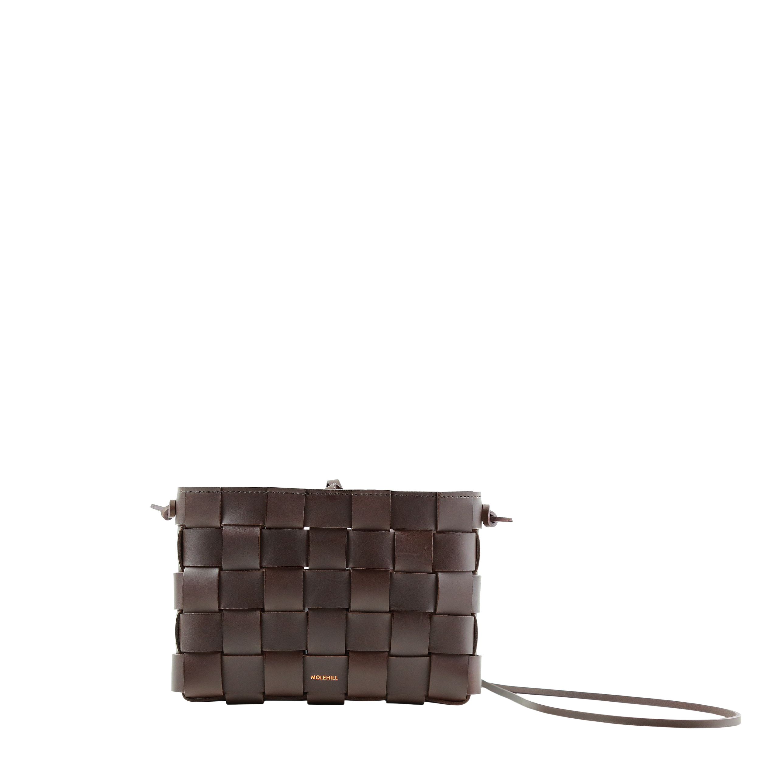 Pane Crossbody Woven Bag Dark Brown-1