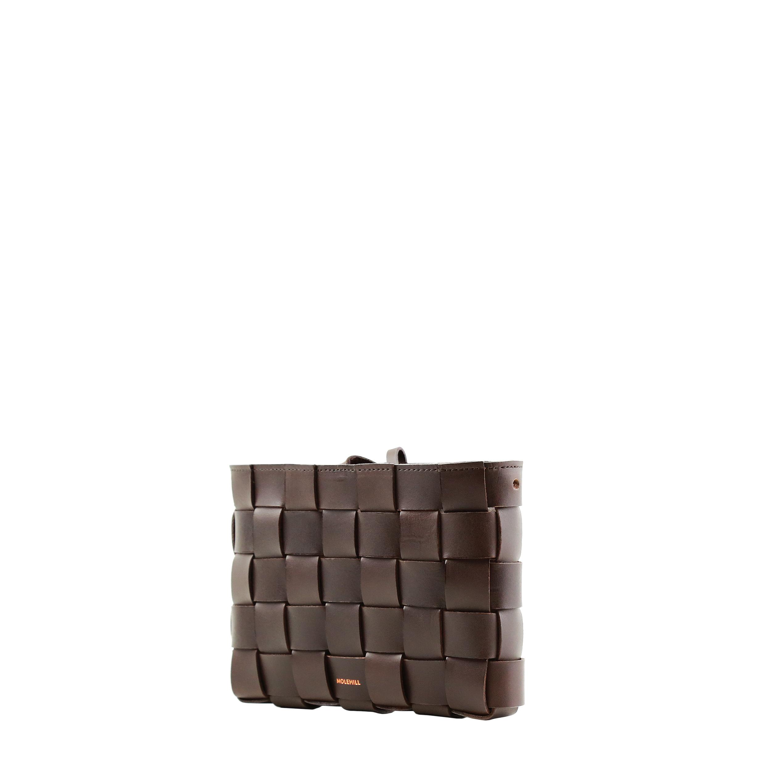Pane Crossbody Woven Bag Dark Brown-4