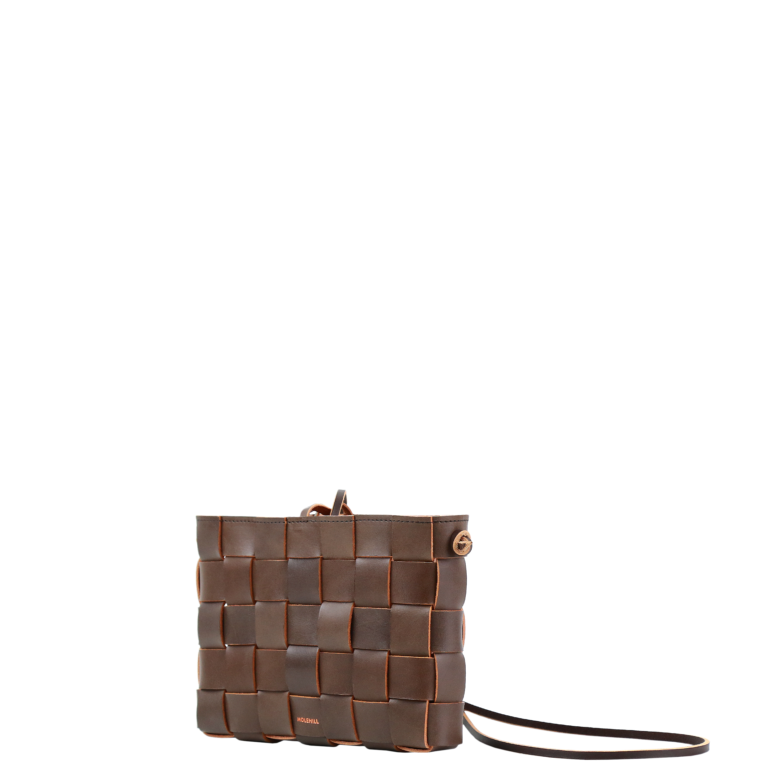 Pane Crossbody Woven Bag Light Chocolate-1
