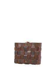 Pane Crossbody Woven Bag Light Chocolate-3
