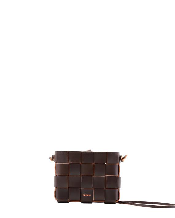 Pane Mini Crossbody Woven Bag Dark Chocolate 1-1