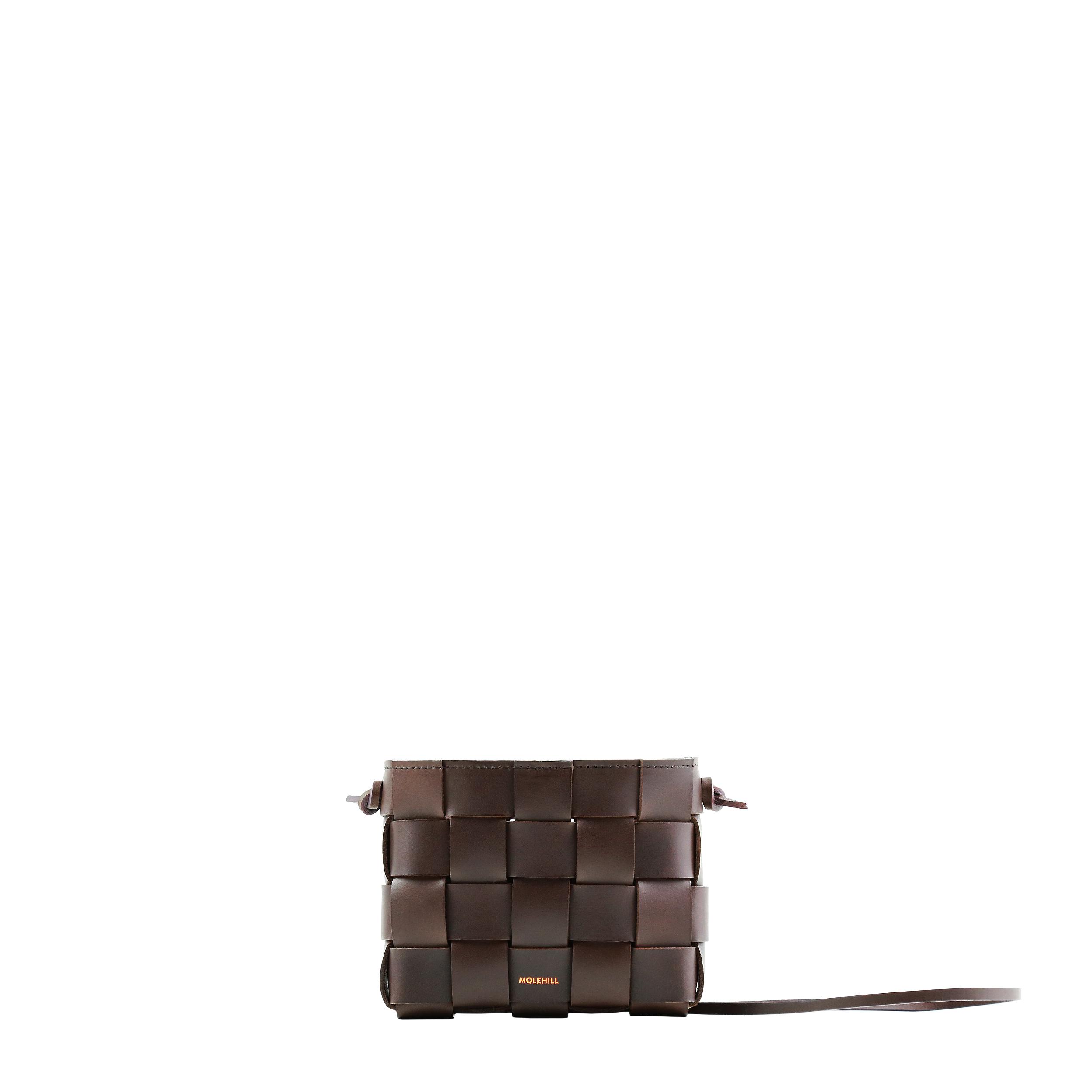 Pane Mini Crossbody Woven Bag Dark Chocolate-2