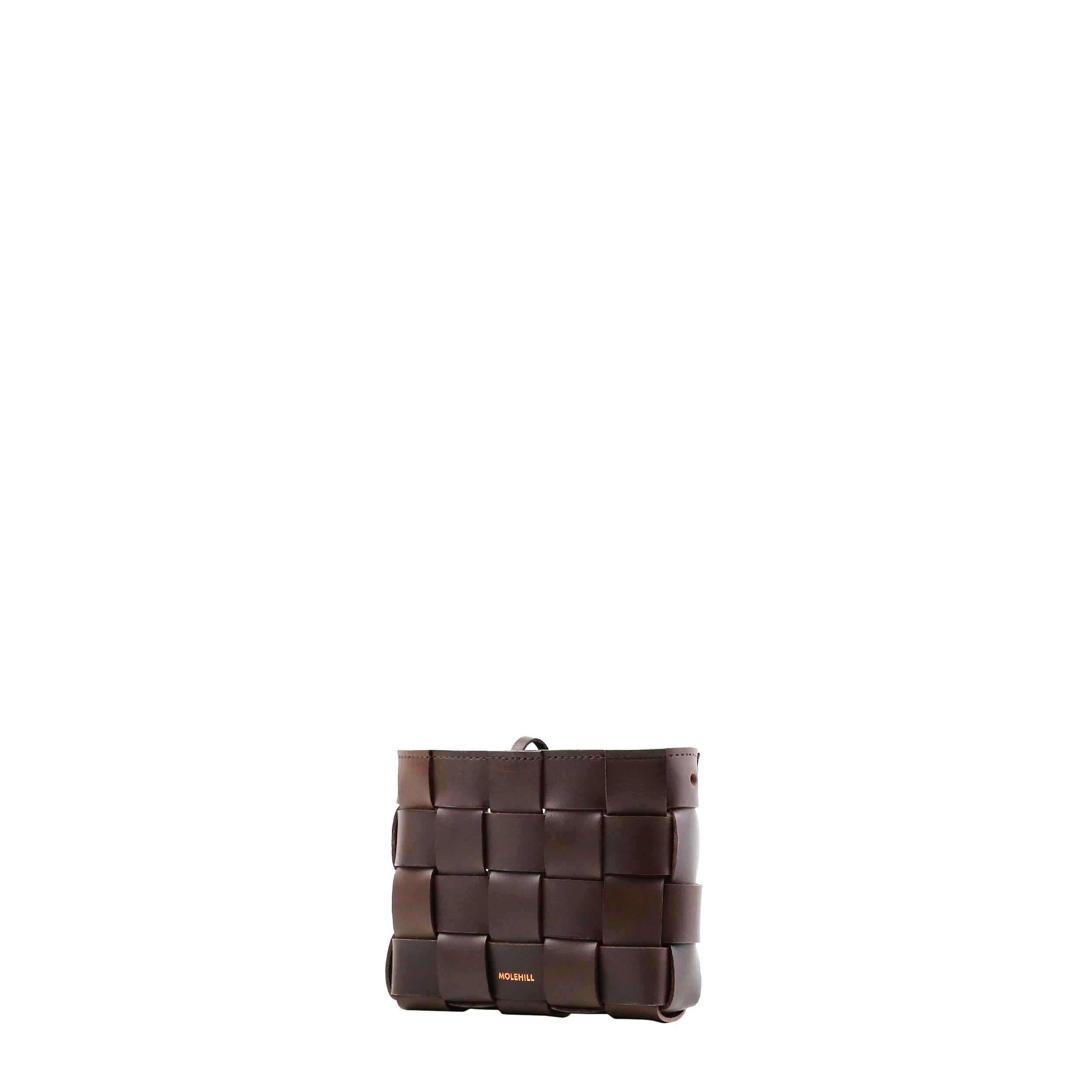 Pane Mini Crossbody Woven Bag Dark Chocolate-3
