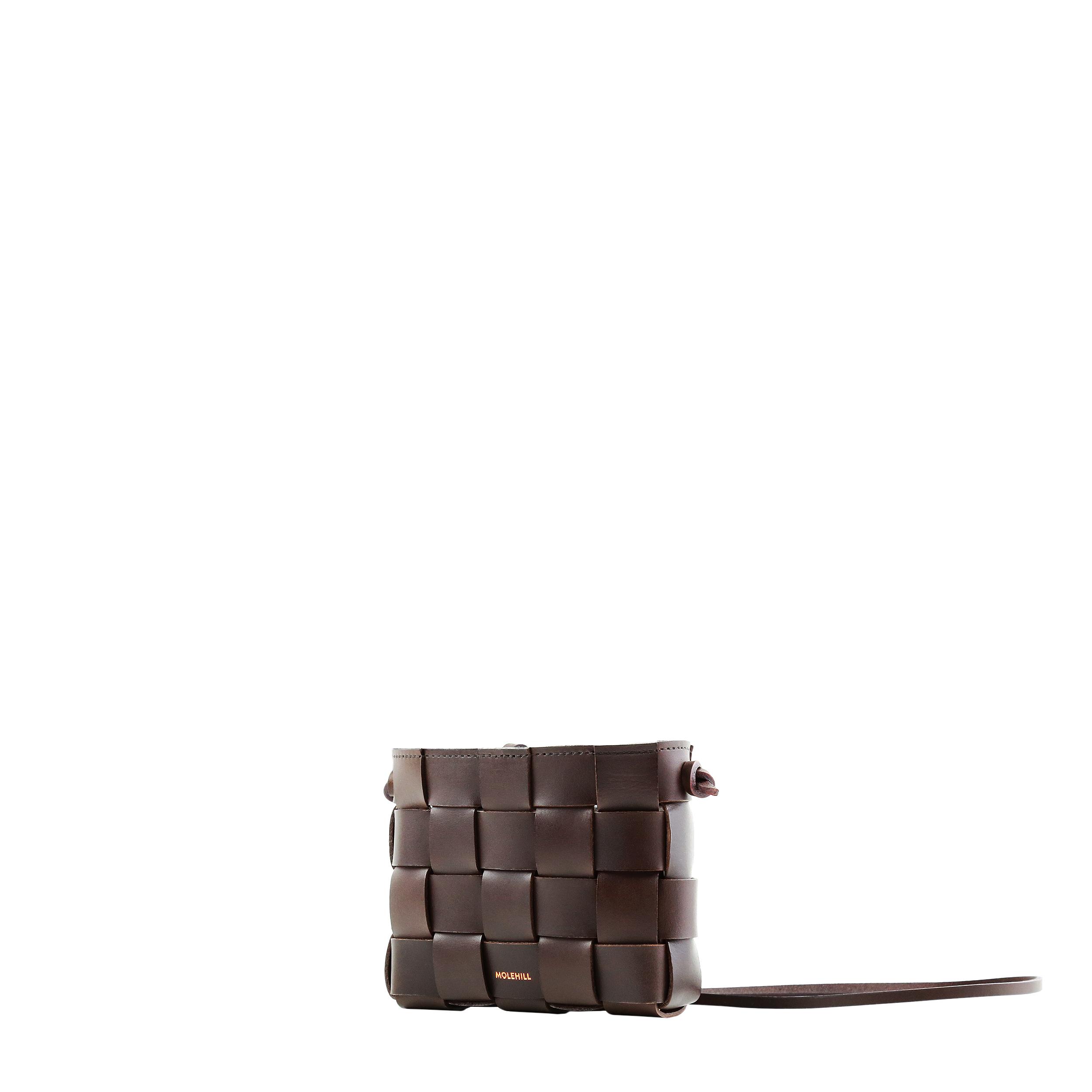 Pane Mini Crossbody Woven Bag Dark Chocolate-4