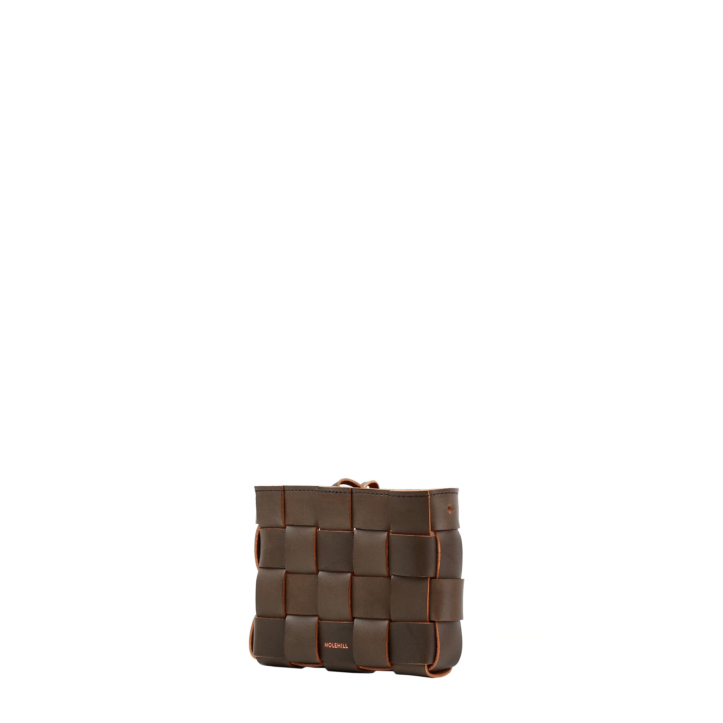 Pane Mini Crossbody Woven Bag Light Chocolate-2