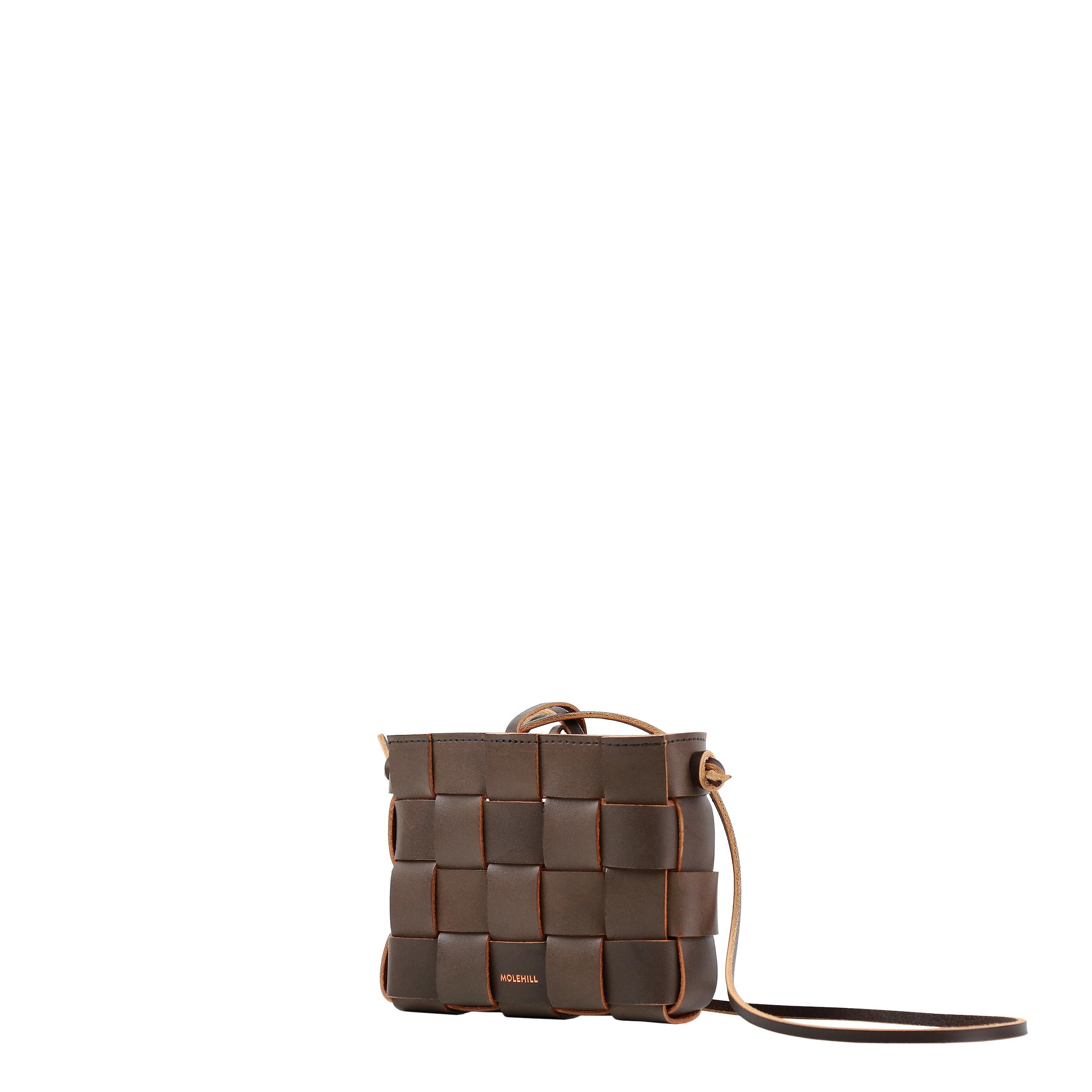 Pane Mini Crossbody Woven Bag Light Chocolate-4