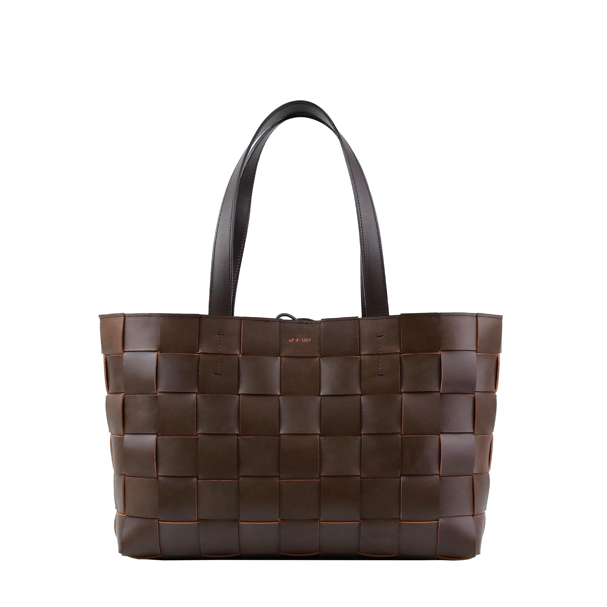 Pane Shopper Woven Bag Light Chocolate-1