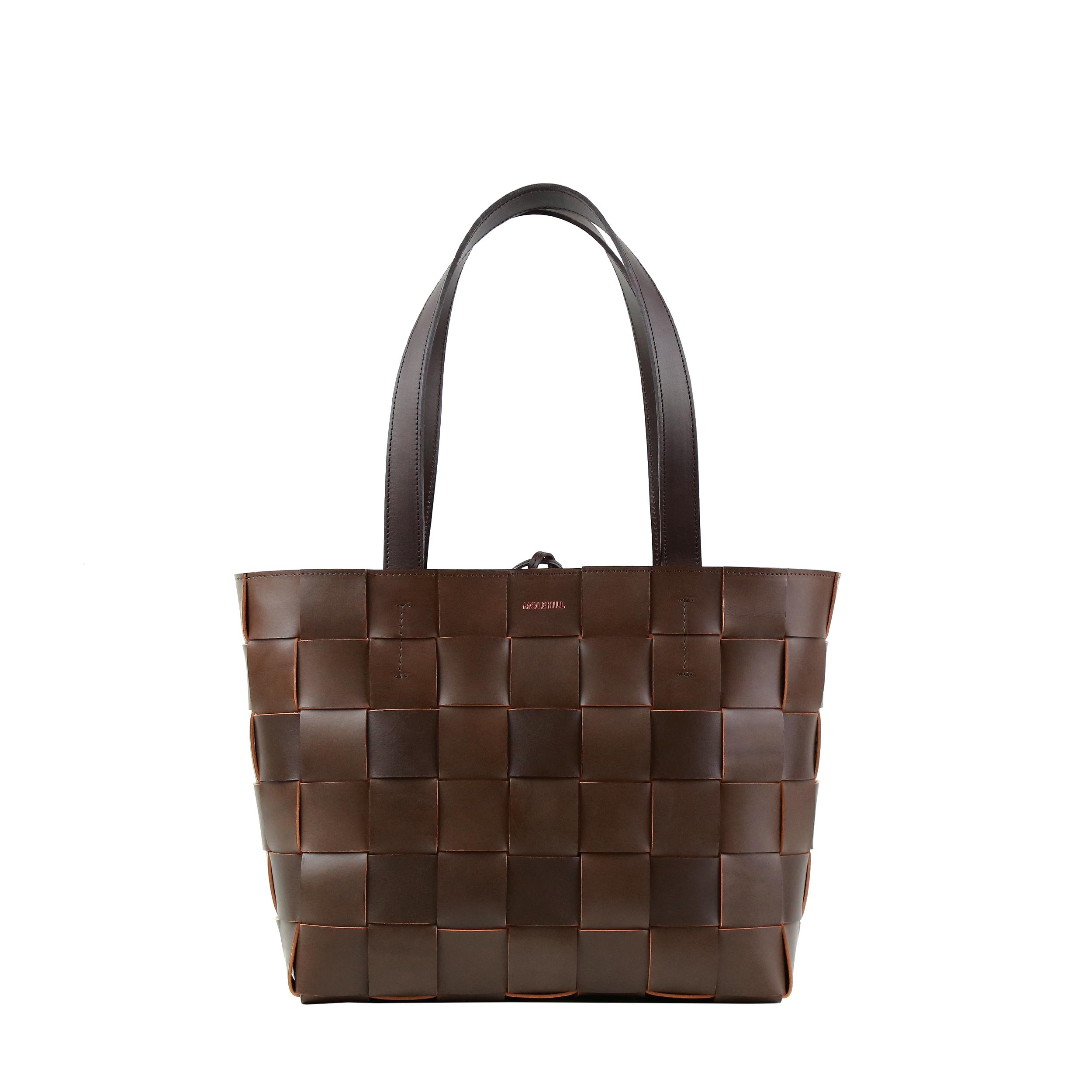 Pane Tote Woven Bag Light Chocolate-1