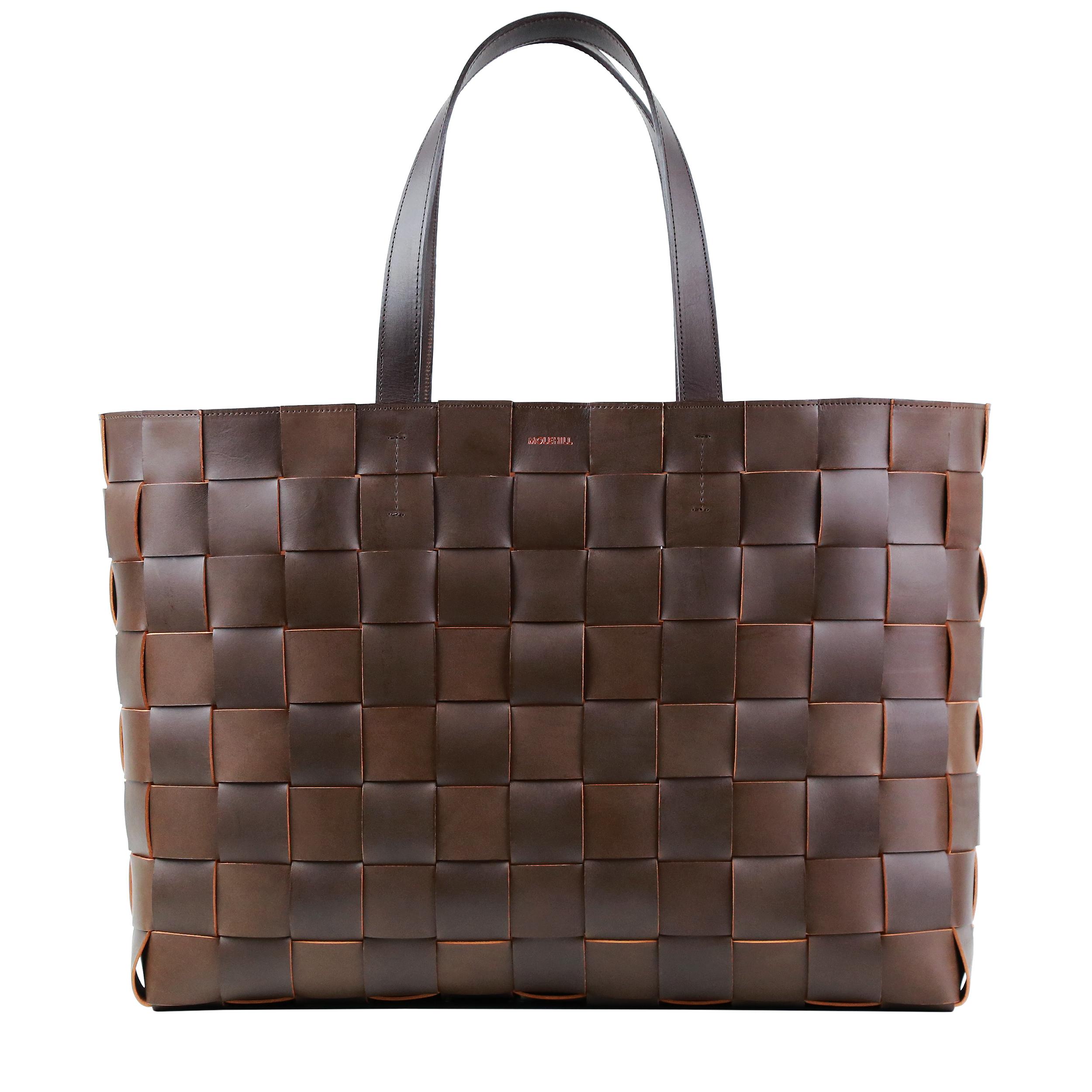 Pane Weekender Woven Bag-Light-Chocolate-1