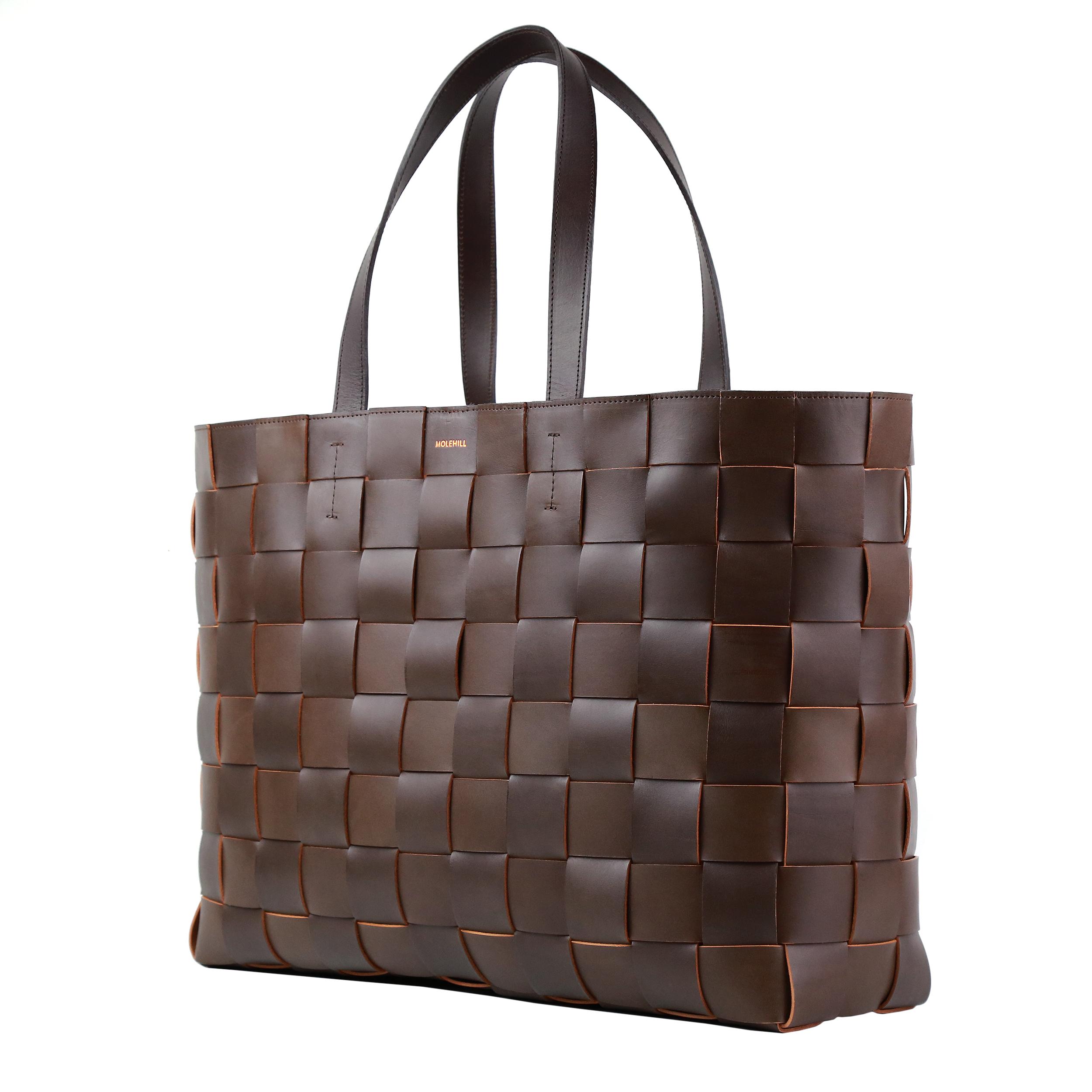 Pane Weekender Woven Bag-Light-Chocolate-2