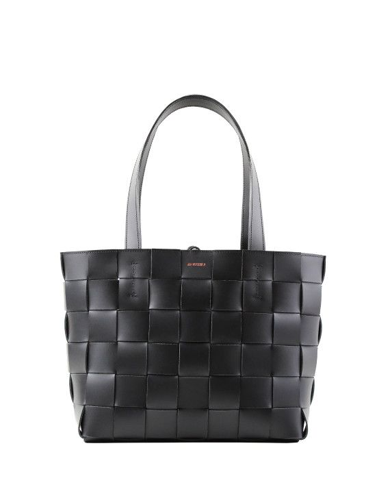 Pane Tote Woven Bag Black-1