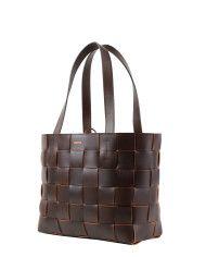 Pane Tote Woven Bag Dark Brown 2-2