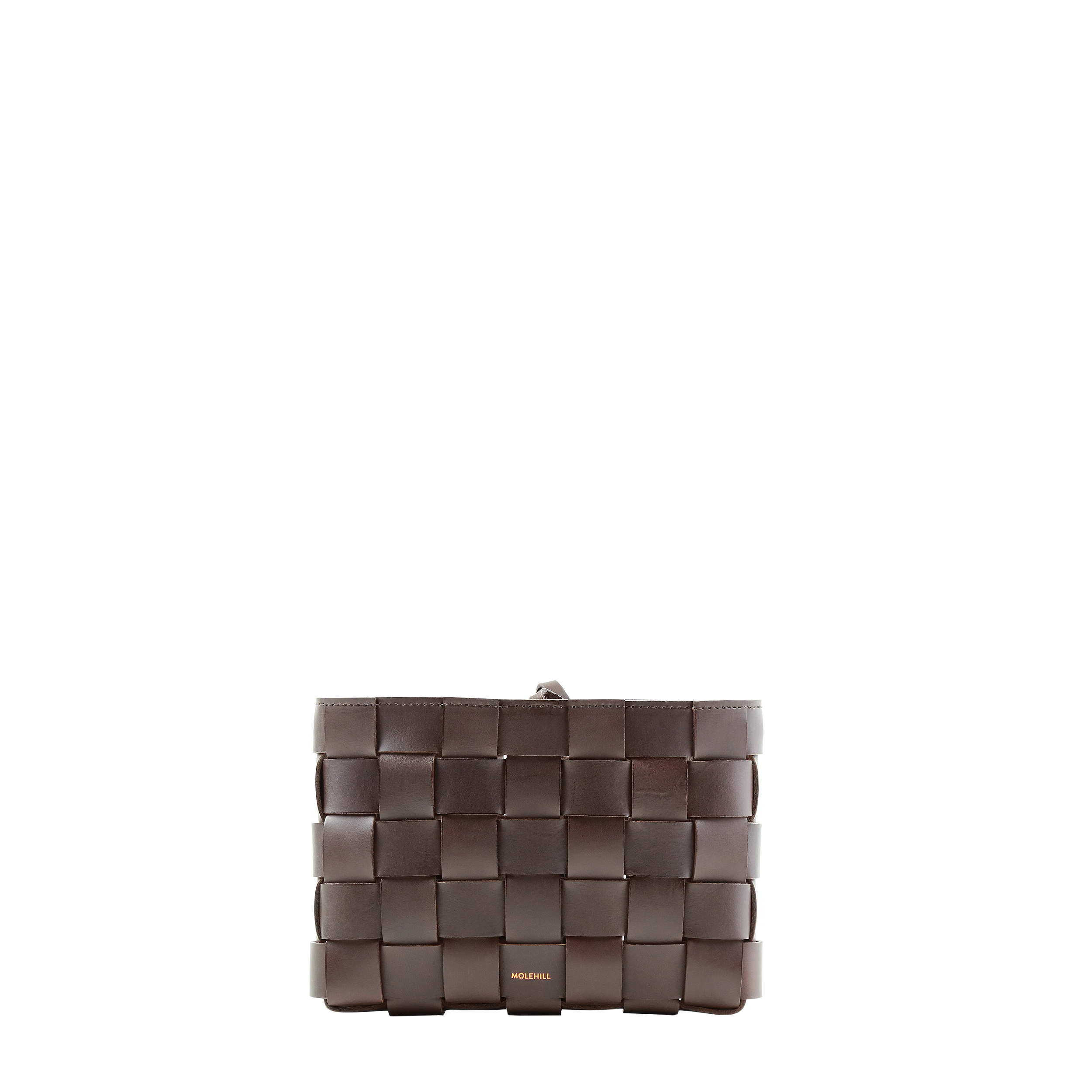 Pane Crossbody Woven Bag Dark Brown-3