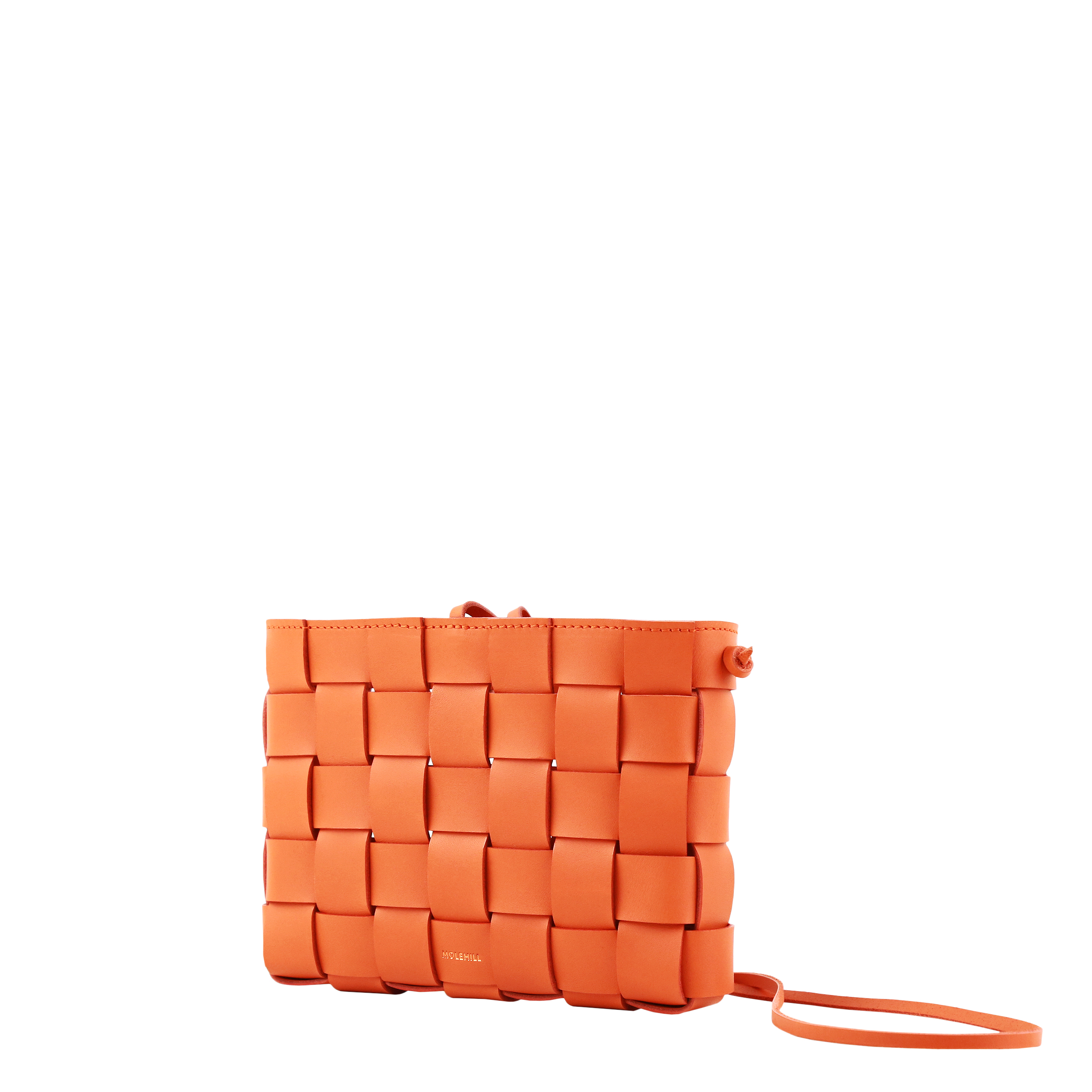 Pane Crossbody Woven Bag Orange-4