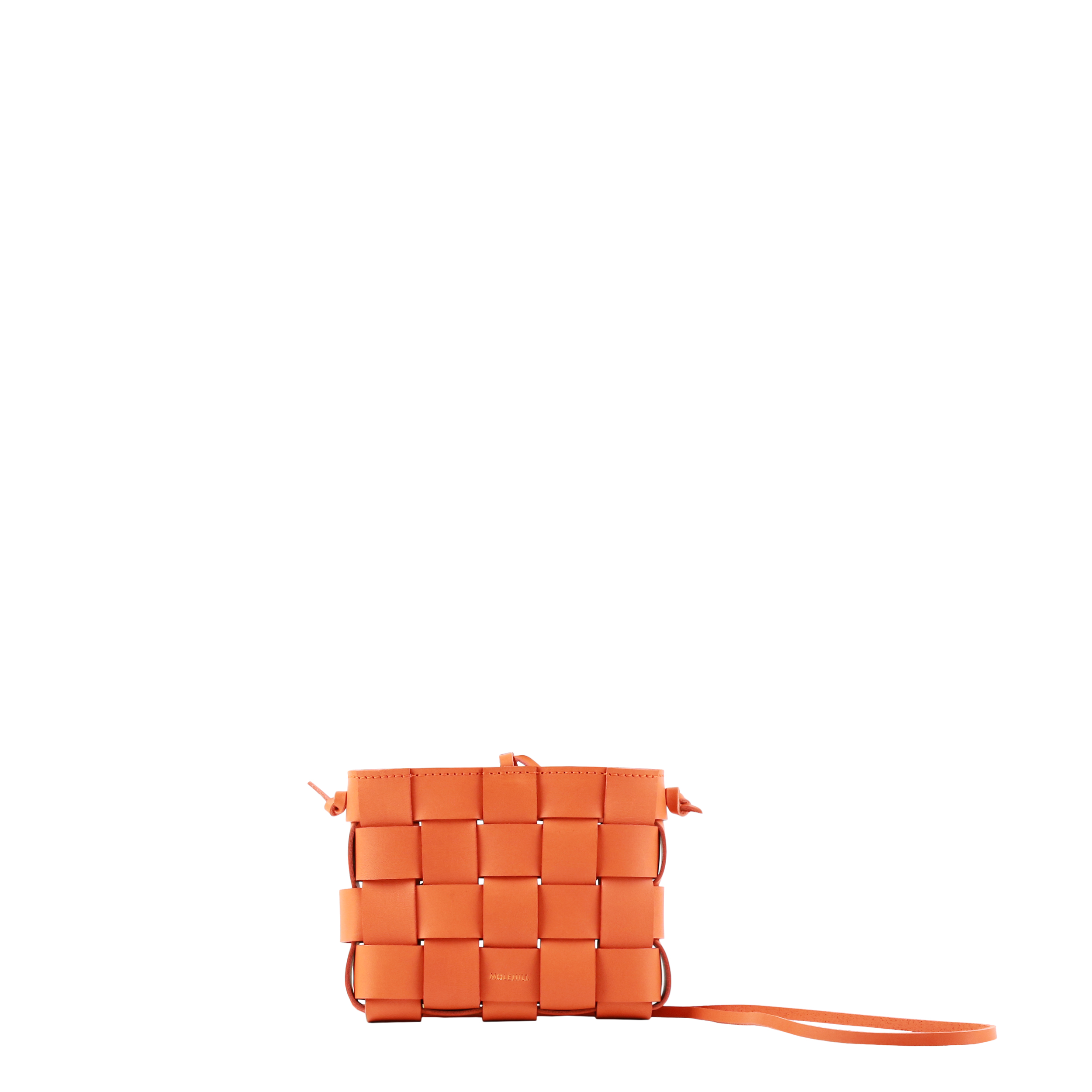 Pane Mini Crossbody Woven Bag Orange-1