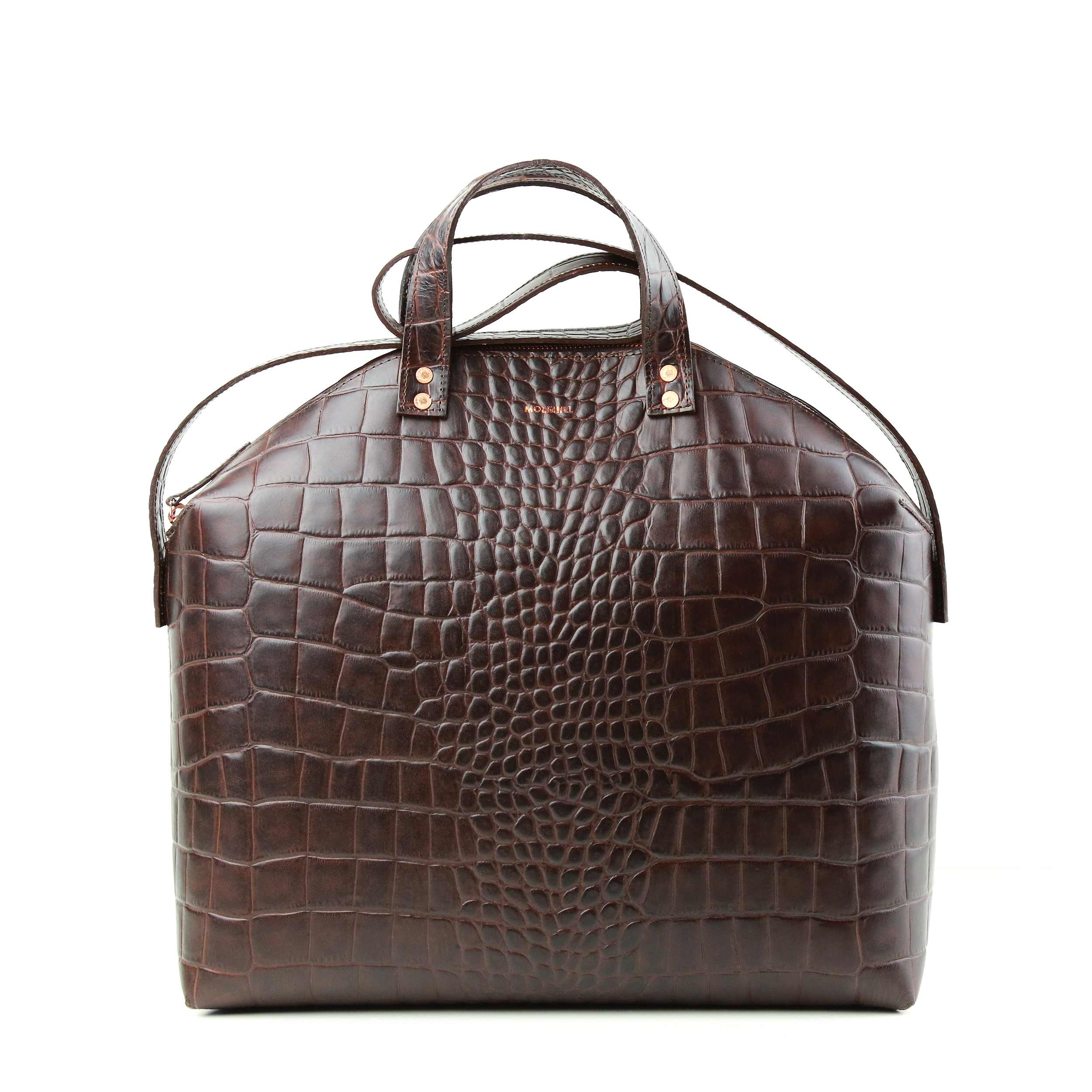 MADURA Hanbag Croco Brown Sample Sale-1
