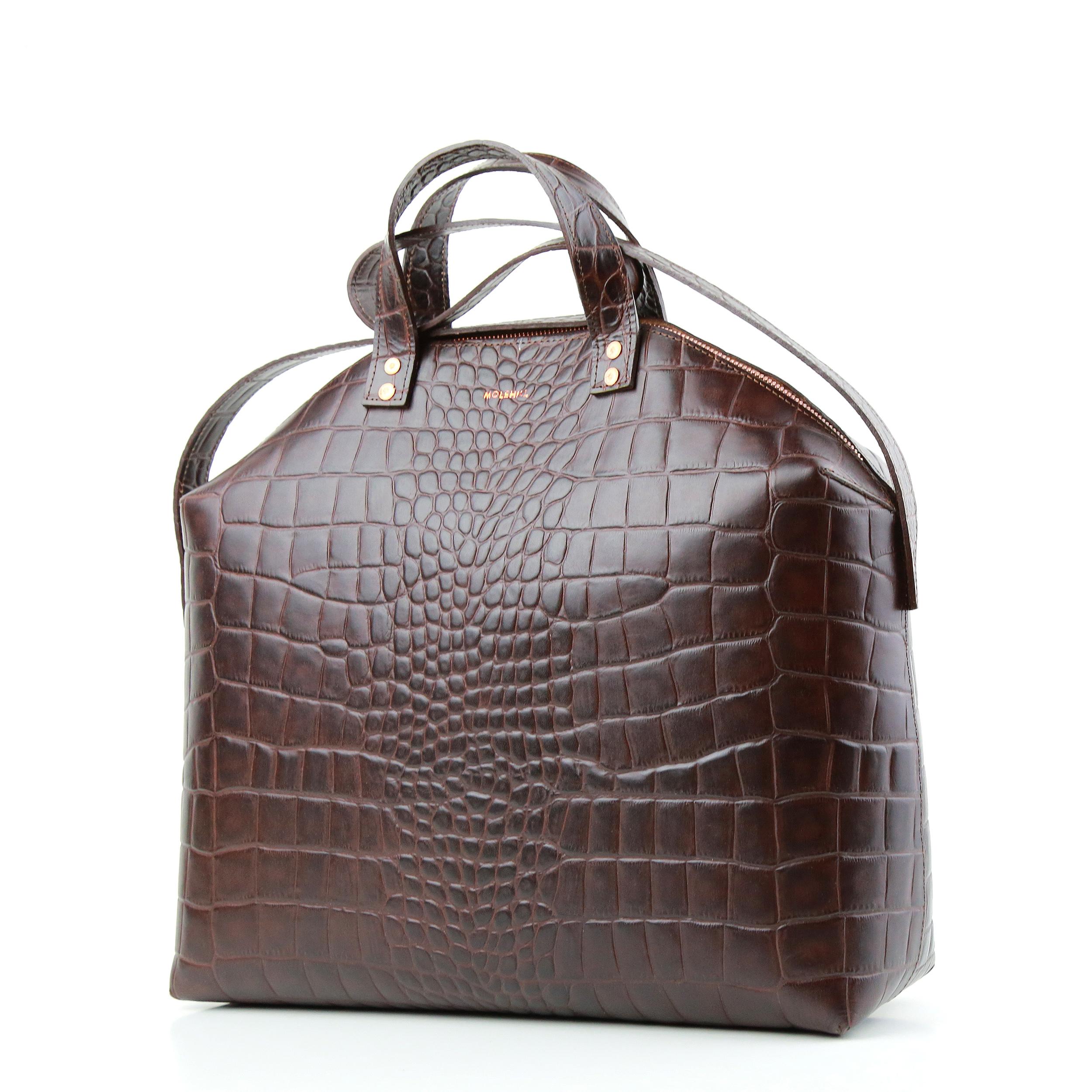MADURA Hanbag Croco Brown Sample Sale-2