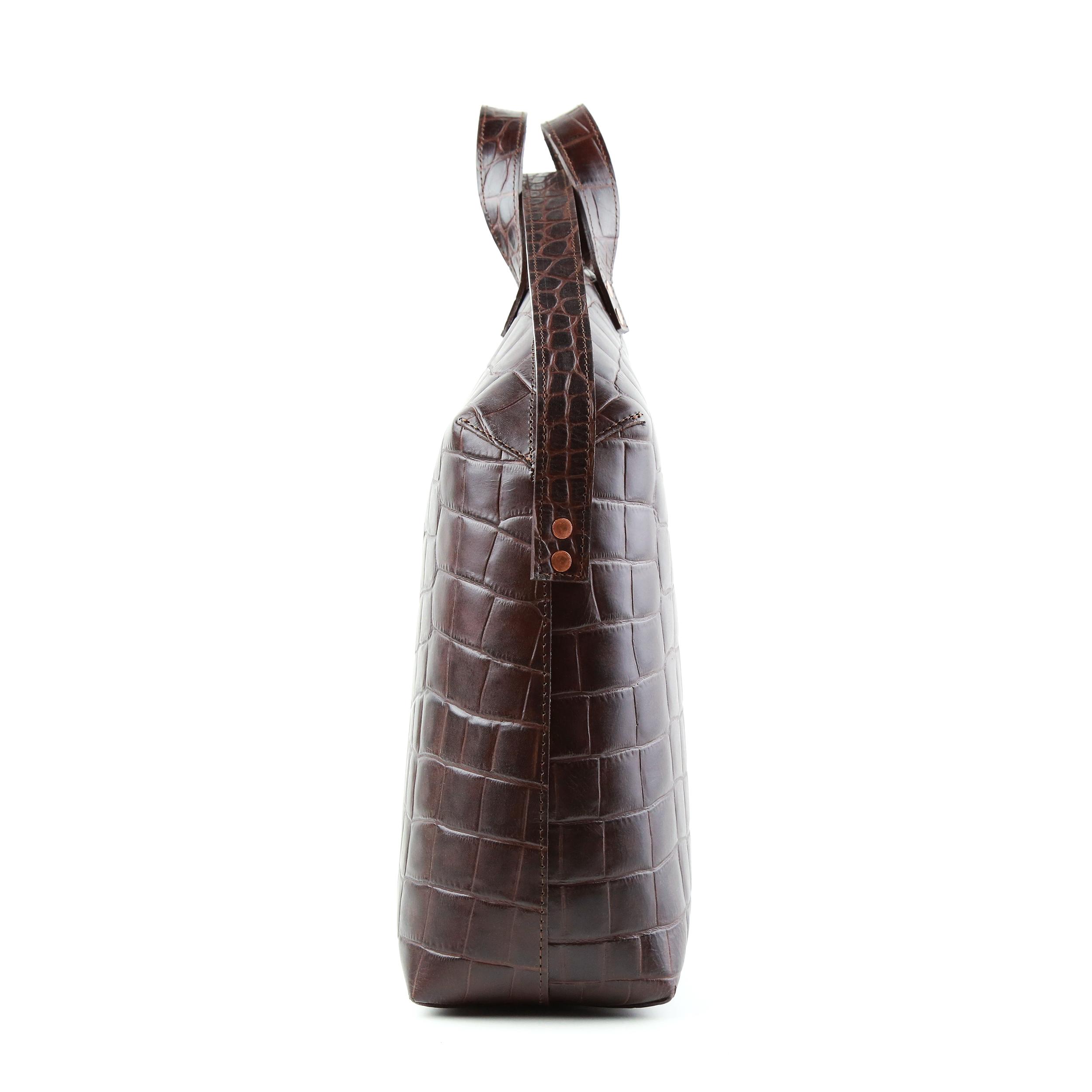 MADURA Hanbag Croco Brown Sample Sale-3
