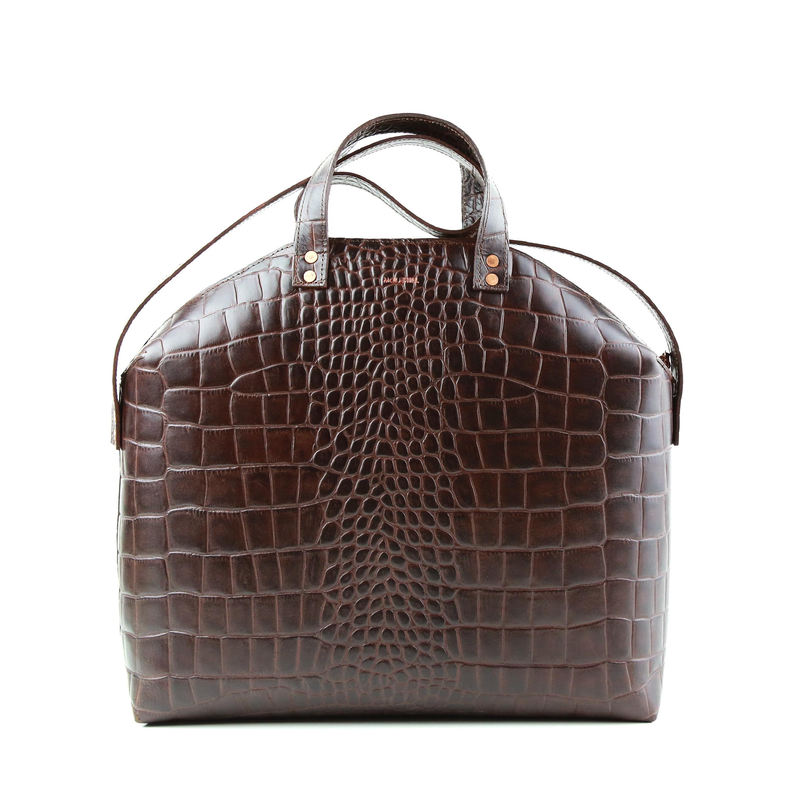 MADURA Hanbag Croco Brown Sample Sale-4